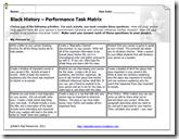 Black History Project Matrix