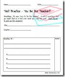 Kids Make the Test Question Sheet Reading Comprehension