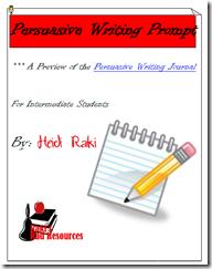 Persuasive Writing Prompt - Writing Proccess - Free